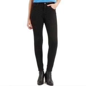 TopShop Moto Jamie High Waist Black Jeans 30